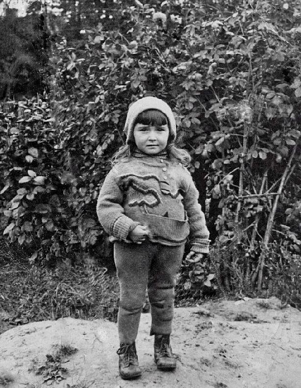 5 Judit Berkowsky, 1938, Lea Friedberg's younger sister, murdered 1941, Novogrudek pogrom, Poland - Copy