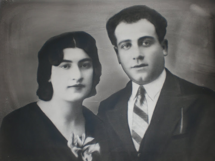 Eva Kaminska Etkin and Menachem-Mendel Etkin on their wedding day (February 19th, 1932).