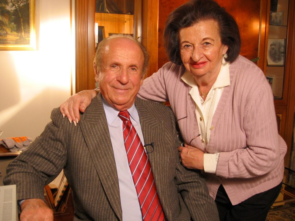 Frank and Cesia Blaichman at Home in NYC September 2001
