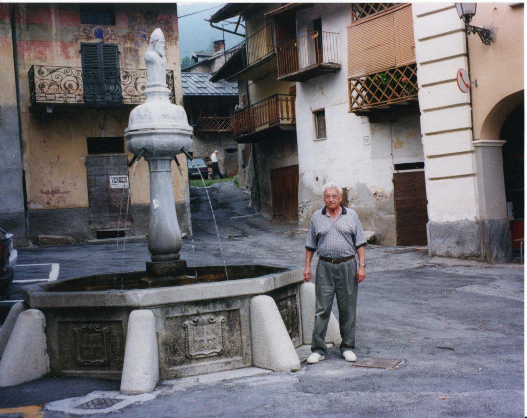 Harry by fountain 1997
