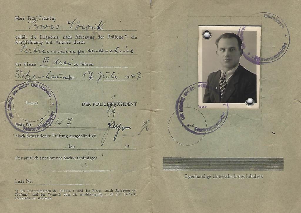 1947 German transit papers