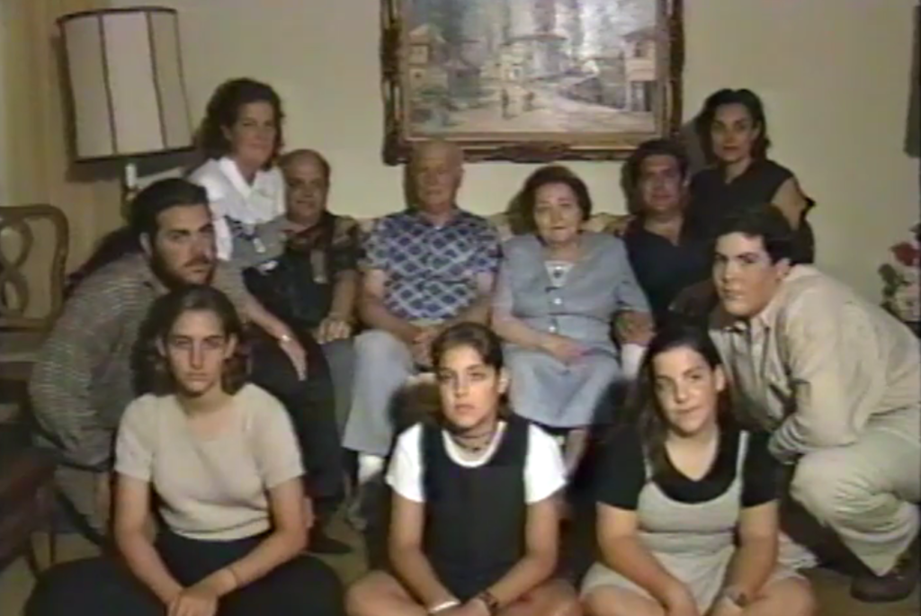 Rachel and Chaim with their sons and grandchildren. August 29th, 1995).