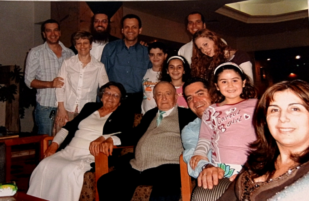 Etkin family on Passover 2000